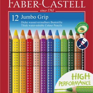 Faber-Castell - Coloured Pencil Jumbo Grip 12 pcs (110912)