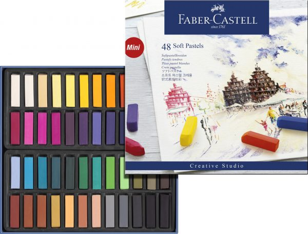 Faber-Castell - Soft pastel crayons mini, box of 48 (128248)