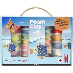 Foam Clay - Set -helmimasasetti, 1 set, värilajitelma