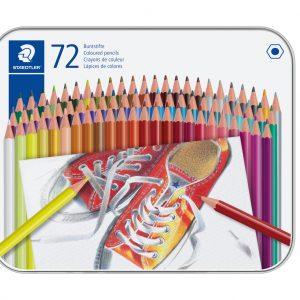 Staedtler - Coloured pencil hexagonal in metal boks, 72 pc (175 M72)