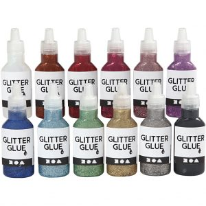 Glitter Glue - Assorted Colors - 12 x 25 ml (318200)