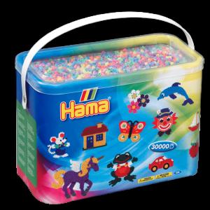 Hama Beads - Midi - Pastel Mix - 30.000 pcs (208-50)