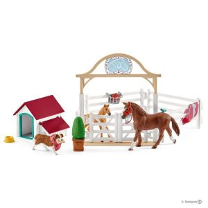 Schleich - Horse Club Hannah's guest horses with Ruby the Dog (42458)