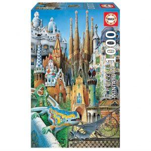 Educa - Puzzle 1000 - Gaudi Collage - Miniature (011874)