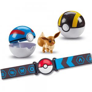 Pokemon - Clip 'N Go Poke Ball Belt - Eevee