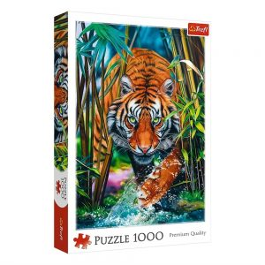Trefl - Puzzle 1000 pc - Grasping tiger (10528)