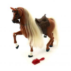Royal Breeds - Prancing Stallion with Sound - Palomino Walker (85002B)