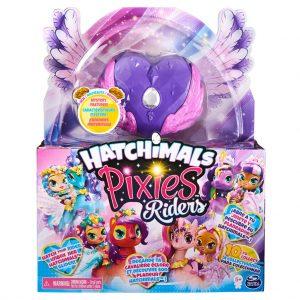 Hatchimals - Pixies Riders - Black Glitter Lily Pixie & Seastallion Glider