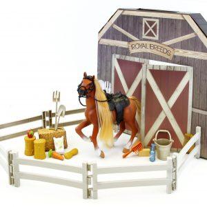 Royal Breeds - Barn Buddies Playset - Brown Horse