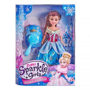 Sparkle Girlz - Winter Princess Dolls Deluxe Set - Blue