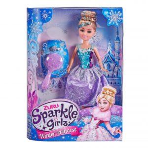 Sparkle Girlz - Winter Princess Dolls Deluxe Set - Purple