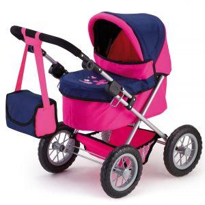 Bayer - Dolls Pram - Trendy - Navy/Pink (13013AA)