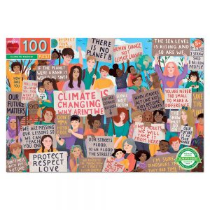 eeBoo - Puzzle - Climate March, 100 pc ( EPZCMM)