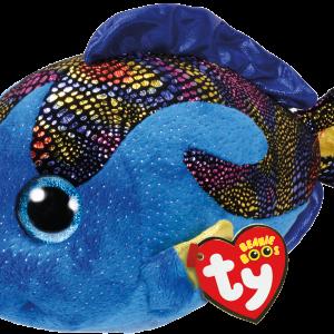 Ty Plush - Beanie Boos - Aqua the Blue Fish (Medium) (TY37149)