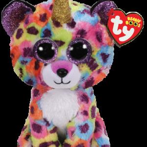 Ty Plush - Beanie Boos - Giselle the Rainbow Leopard (Medium) (TY36453)