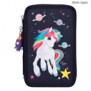 Ylvi & the Minimoomis - Trippel Pencil Case - Space Unicorn (11167)