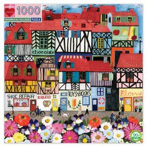 eeBoo - Puzzle - Whimsical Village , 1000 pc ( EPZTWSV)