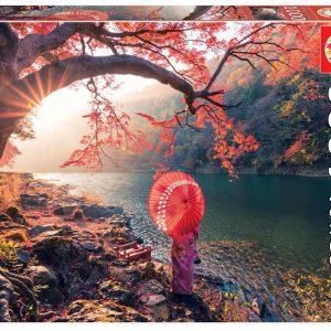 Educa - Puzzle 1000 - Sunrise in katsuma River (018455)
