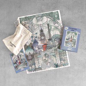 Print Club London x Luckies – London, Paris, Brussels - 500 Pieces Puzzle