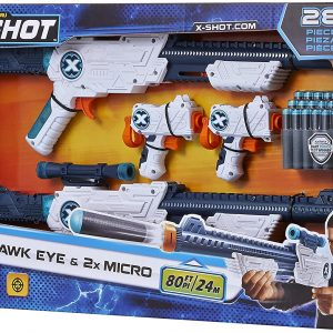 X-Shot - Excel - Combo 2 Hawk Eye & 2 Micro Blasters (36278)