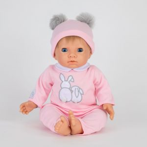 Tiny Treasures - Doll Pink Pom Pom w. Blond Hair (30168)