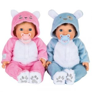 Tiny Treasure - Puppy and Kitten Baby Twins Doll (30169)