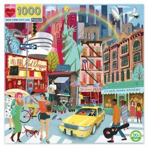 eeBoo - Puzzle - New York Life, 1000 pc (EPZTNYL)