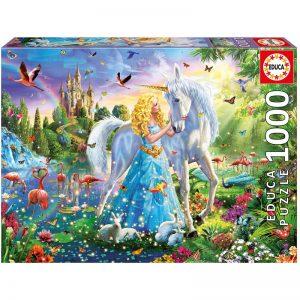 Educa - Puzzle 1000 - The Princess And The Unicorn (017654)