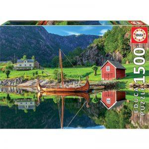 Educa - Puzzle 1500 - Viking Ship (018006)