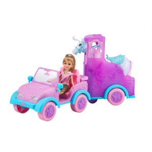 Sparkle Girlz - Doll w. Jeep And Horse Trailer 100319)