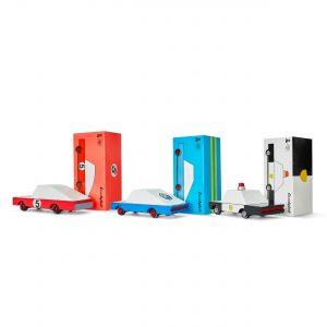 Candylab - Candycar - 3 pack - Red + Blue Racer & Policecar