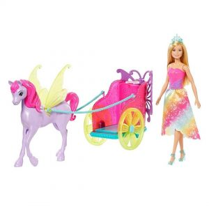 Barbie - Barbie Chariot + Fantasy Horse & Princess Doll (GJK53)