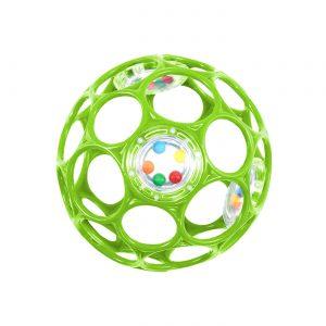 Oball - Rattle 10 cm - Green (11485)