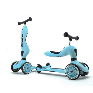 Scoot and Ride - 2 in 1 Balance Bike/ Scooter - Blueberry (160629-09)