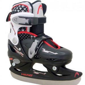 Head - Adjustable Ice Skate - Black (size: 30-33)