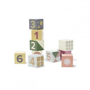 Kids Concept - Cubes Wood - Edvin 10 pcs (1000467)