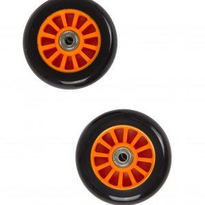 My Hood - 2 Wheels for Trick Scooters 100 mm - Black/Orange (505084)