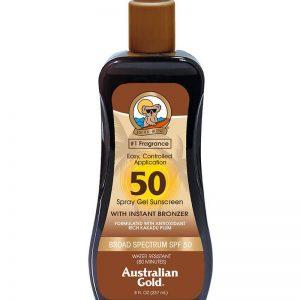 Australian Gold - Sunscreen SPF50 Spray Gel w. Instant Bronzer 237 ml