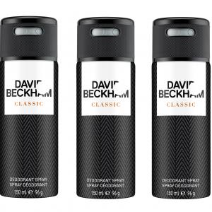 David Beckham - 3x Classic Deodorant Spray 150 ml