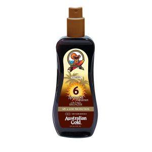 Australian Gold - Sunscreen Spray Gel w. Instant Bronzer 237 ml - SPF 6