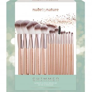 Nude by Nature - 15 Piece Shimmer Rose Gold Brush Set