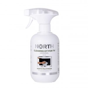 North - Cleaning kit TV, Cleaning Spray and Microfiber cloth 500 ml