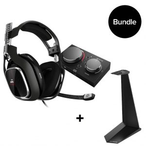 Astro - A40 TR Headset + MixAmp Pro TR for PS4 & PC + Headset Stand BUNDLE
