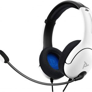 PDP LVL40 Wired Stereo Headset for PS4 White