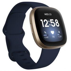 Fitbit - Versa 3 - Smart Watch - Midnight/Gold