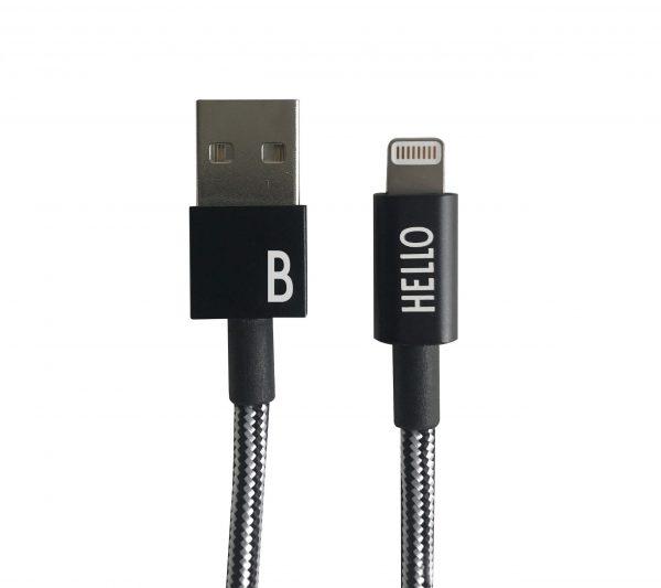 Design Letters - Lightning Cable 1 Meter B - Black (60201010B)