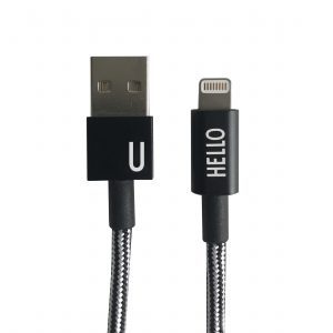 Design Letters - Lightning Cable 1 Meter U - Black (60201010U)