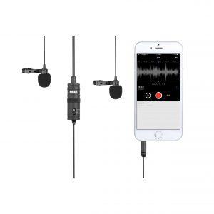 Boya - BY-M1DM Microphone Lavalier Dual 3,5mm 4,0m