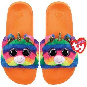 Ty Plush - Slides - Gemma the Rainbow Unicorn (Size: 36-38) (TY95470)
