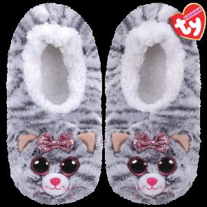 Ty Plush - Slippers - Kiki the Cat (Size: 36-38)(TY95360)